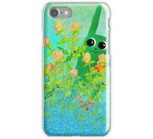 green bunny iPhone Case/Skin
