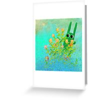 green bunny Greeting Card
