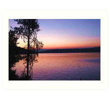 Lake at Sunset Art Print