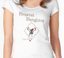 Deer Elder Daughter - I love my dear family Women's Fitted Scoop T-Shirt