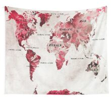 World map 28 Wall Tapestry
