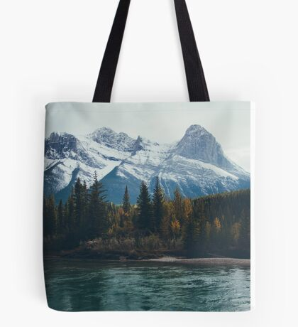mountain river Tote Bag
