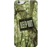 Keep Out Island iPhone Case/Skin