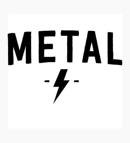 Metal Rock Photographic Print