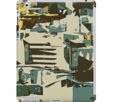 green brown yellow blue drawing abstract background iPad Case/Skin