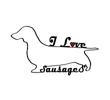 Sausage Dog Miniature Dachshund Gifts by 8milesfromhome