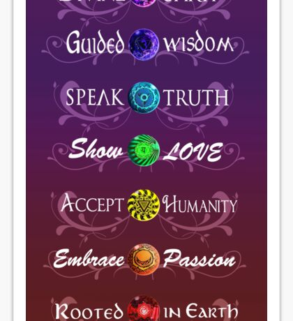 Worded Chakras Sticker