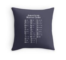 American Morse Code Chart,  Throw Pillow