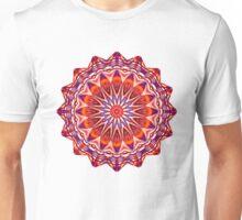 Red Mandala Kaleidoscope  Unisex T-Shirt