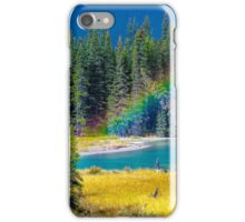 Rainbow over the Mistaya River iPhone Case/Skin