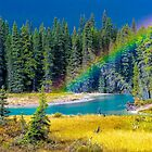 Rainbow over the Mistaya River by Jim Stiles