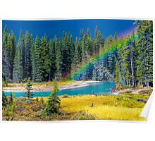 Rainbow over the Mistaya River Poster