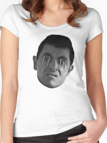 Mr Bean Wide Awake Women's Fitted Scoop T-Shirt