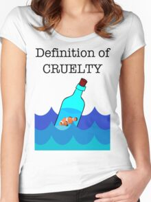 The Definition of Cruelty. Women's Fitted Scoop T-Shirt