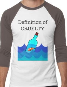 The Definition of Cruelty. Men's Baseball ¾ T-Shirt
