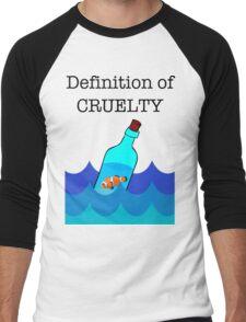 The Definition of Cruelty. Men's Baseball ¾ T-Shirt