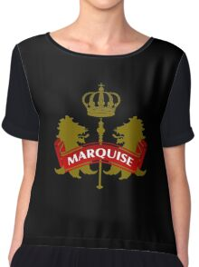 The Marquise Coat-of-Arms Chiffon Top