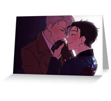 A Quiet Moment - victuuri Greeting Card