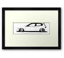 Honda civic eg Framed Print