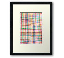 squares in all colors Framed Print