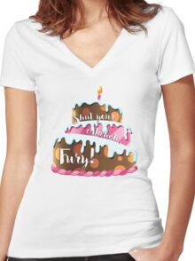 Shut Your Cakehole, Fury! Women's Fitted V-Neck T-Shirt