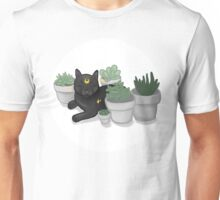 luna and succulents  Unisex T-Shirt