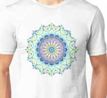 Blue/Yellow Mandala Kaleidoscope  Unisex T-Shirt
