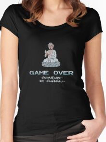 If you see the Buddha at the arcade, insert coin. Women's Fitted Scoop T-Shirt
