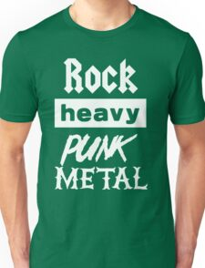 Rock, Heavy, Punk, Metal Unisex T-Shirt