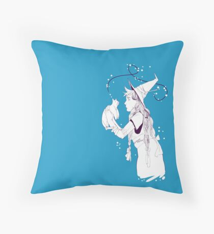 catwitch monotone Throw Pillow