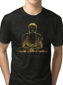 Golden Buddha Zen Meditation Tri-blend T-Shirt