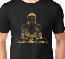 Golden Buddha Zen Meditation Unisex T-Shirt