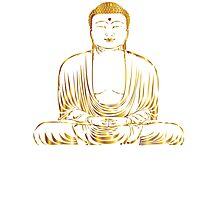 Golden Buddha Zen Meditation Photographic Print