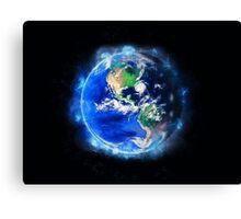 Planet Earth American World Globe Canvas Print