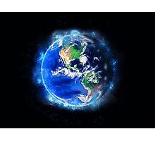 Planet Earth American World Globe Photographic Print