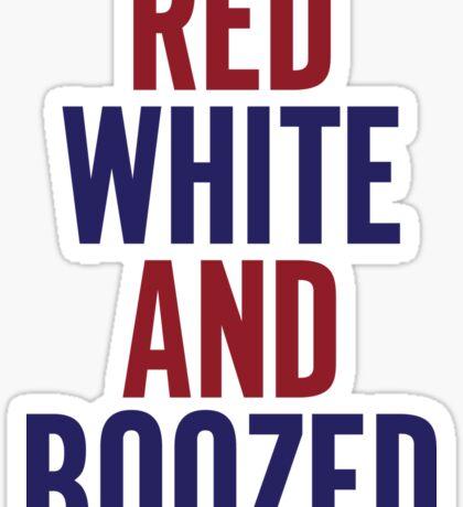 Red White & Boozed Sticker