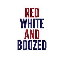 Red White & Boozed Photographic Print