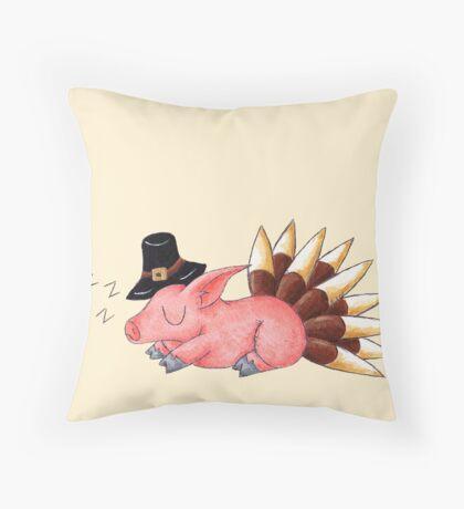 Turkey Coma Throw Pillow