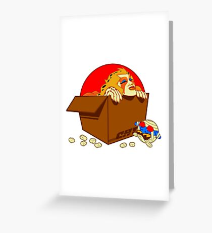 In A Cardboard Paradise Greeting Card