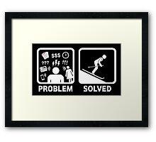 Skiing Funny Problem Solved Framed Print