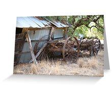 Old Wagon.... Greeting Card
