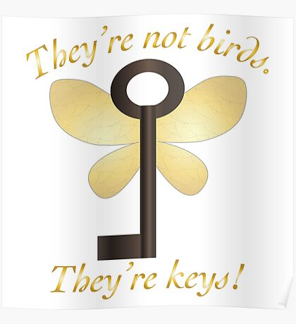 Flying Keys Winged Keys Poster
