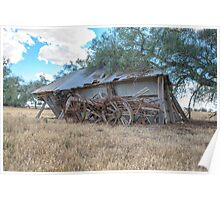Days gone by... Old shed...Old Wagon Poster