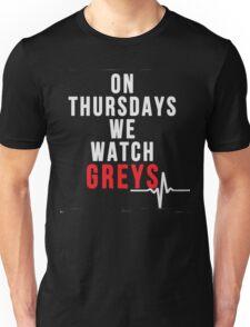 On thursdays we watch Grey's - Grey's Anatomy Unisex T-Shirt