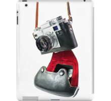 camera in red-black case iPad Case/Skin