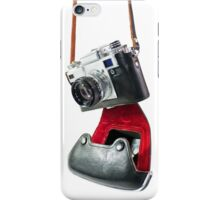 camera in red-black case iPhone Case/Skin