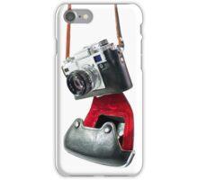 camera in red-black case iPhone Case/Skin