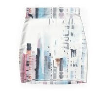 Abstract New York Cityscape - Hand painted original watercolor  Mini Skirt