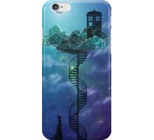 Blue Box in the Victorian Sky iPhone Case/Skin