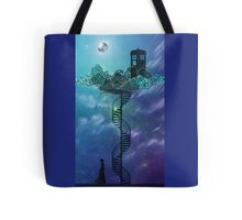 Blue Box in the Victorian Sky Tote Bag